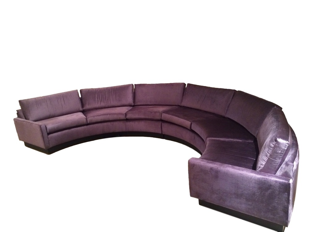 Merveilleux ON HOLD Milo Baughman Semi Circular Sectional Sofa