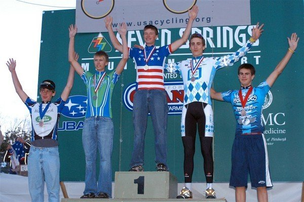 2007 Time Trial 17-18 Nationals podium. Not only did I not own a power meter, I wore jeans on the podium.