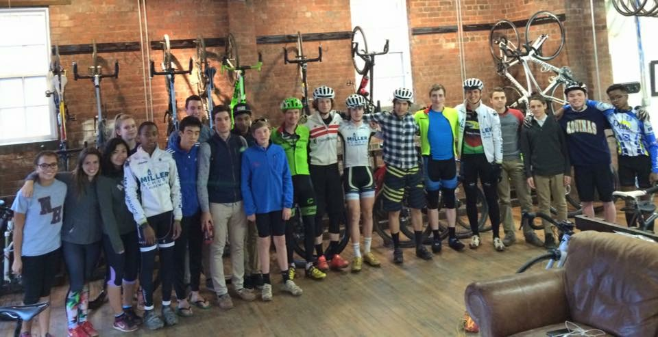 Visit with the Miller School of Albemarle High School Cycling team.