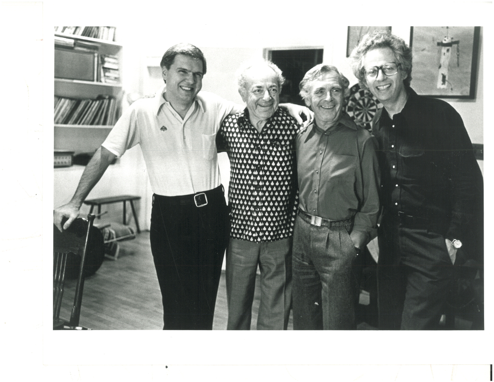 LEE LUVISI; ALEXANDER SCHNEIDER; WALTER TRAMPLER; LAURENCE LESSER. PHOTOGRAPHED FALL 1979