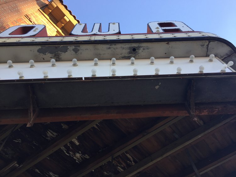 The marquee, opened up, from below! November, 2016.