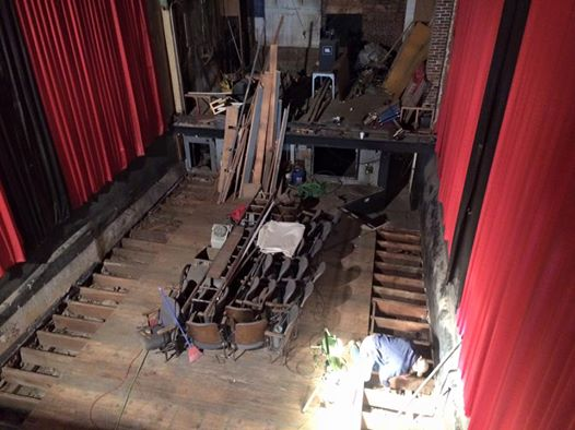 The theater floor is shored, 2016.