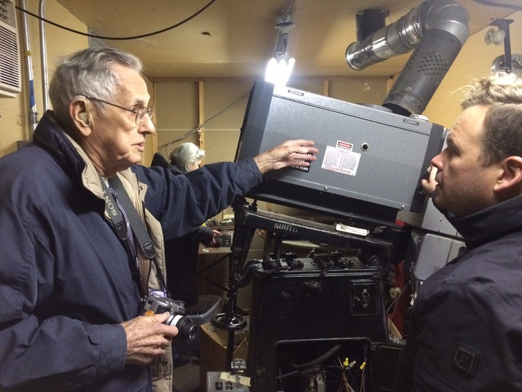 "Fred Kuntz, who worked as a projectionist at The Iowa more than fifty years ago, talks to Jack C. Newell about how the the ""old"" projectionists worked."