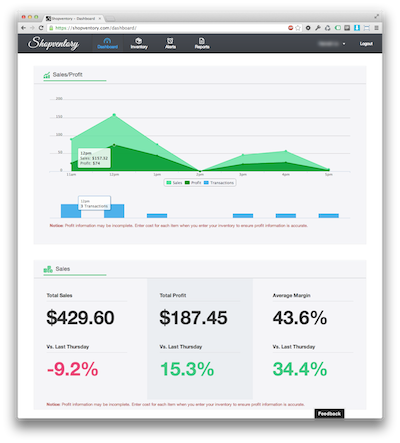 Shopv dashboard