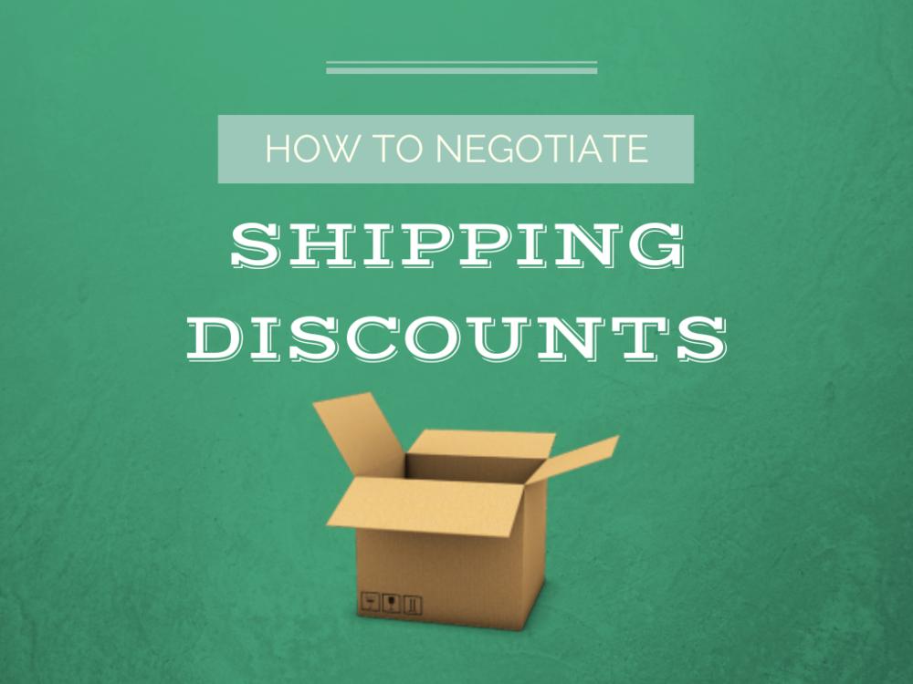 negotiate shipping discounts