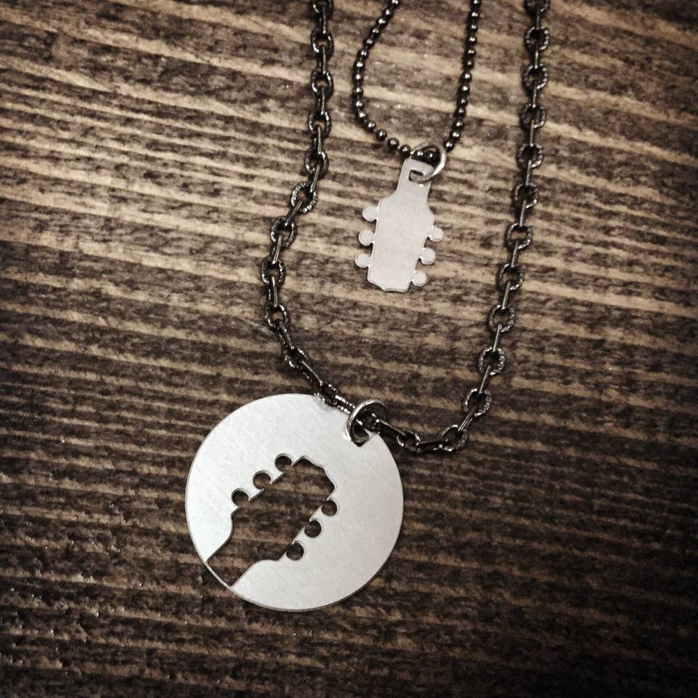 Daddy & Me Guitar Necklace by Audra Azoury | Audra Azoury Jewelry © 2016.