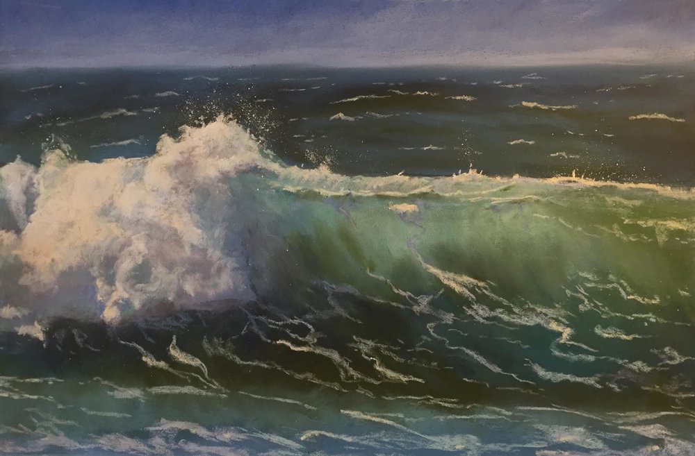 "Image: Ocean's Power | Pastel | 11"" x 17"" 