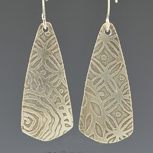 Silver Etched Earrings taught by Ann Sanicola
