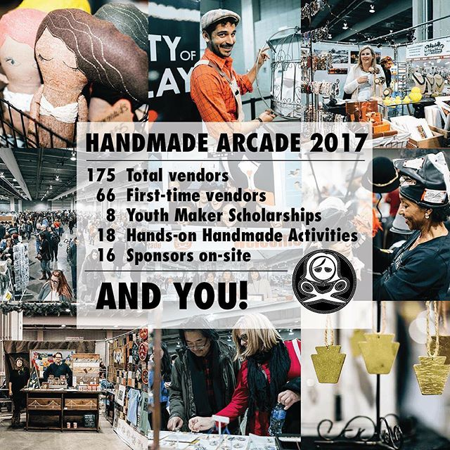 Today! Today! Today!  Saturday, December 2nd has finally arrived!  It's time for Handmade Arcade!  We hope to see you there!  Visit http://www.handmadearcade.com/ for details.  #pgh #pittsburgh #indiecraft #artsandcrafts #shophandmade #shopsmall #localartists #nationalartists #handmadearcade #handmadearcade2017 #HOHA #davidllawrenceconventioncenter #downtownpgh #handmadegifts #handmadefortheholidays