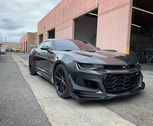 @anotherzl1guy - can't let you leave the shop empty handed. a few @generalmotors performance upgrades to let this ZL1 re-debut on the mean streets