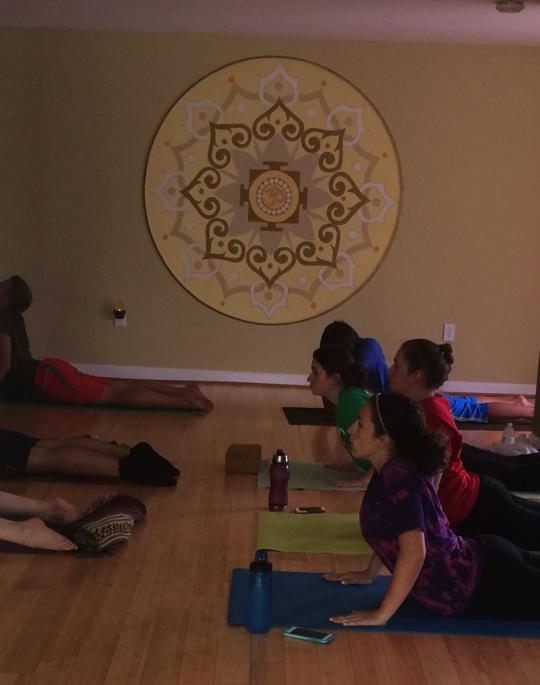 Teen yoga workshop at Shine Yoga Center in Perkasie, PA.