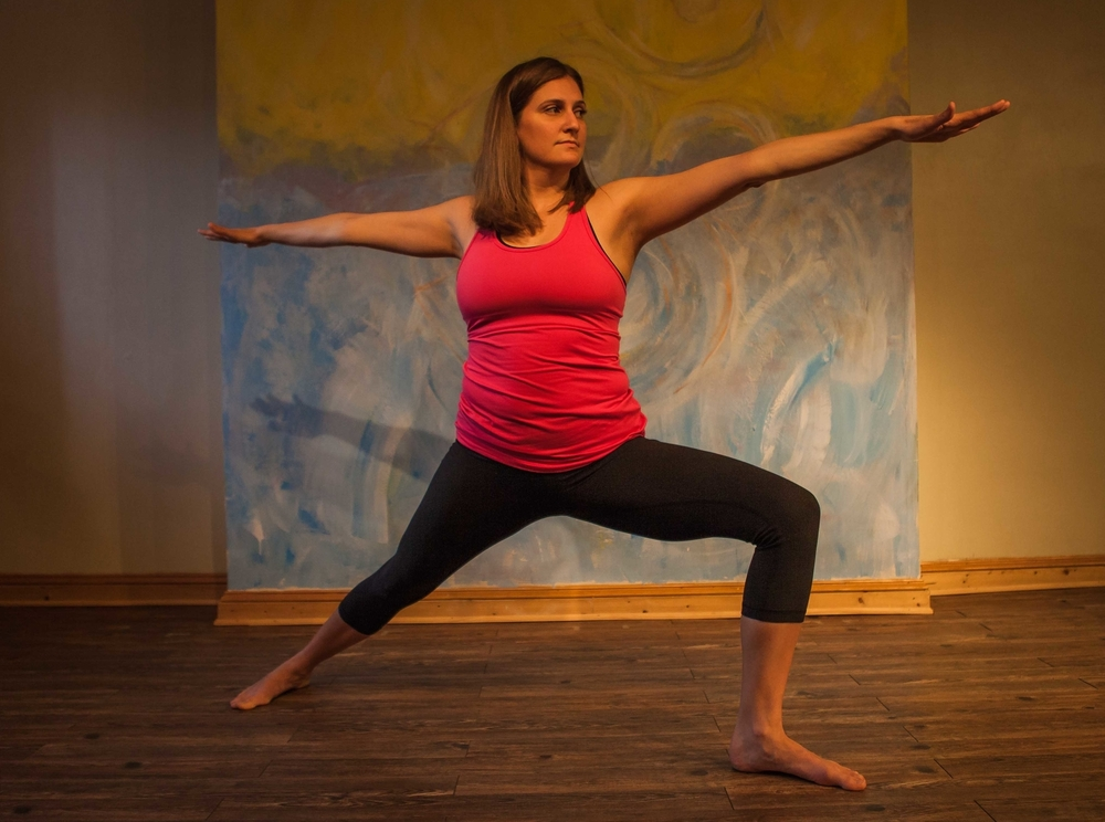 Philly area yoga teacher, my friend, and all around amazing woman  Julia Paddison  in Warrior 2. Check out Julia's  Teaching schedule  and  blog . (Photo by  Joe Longo )