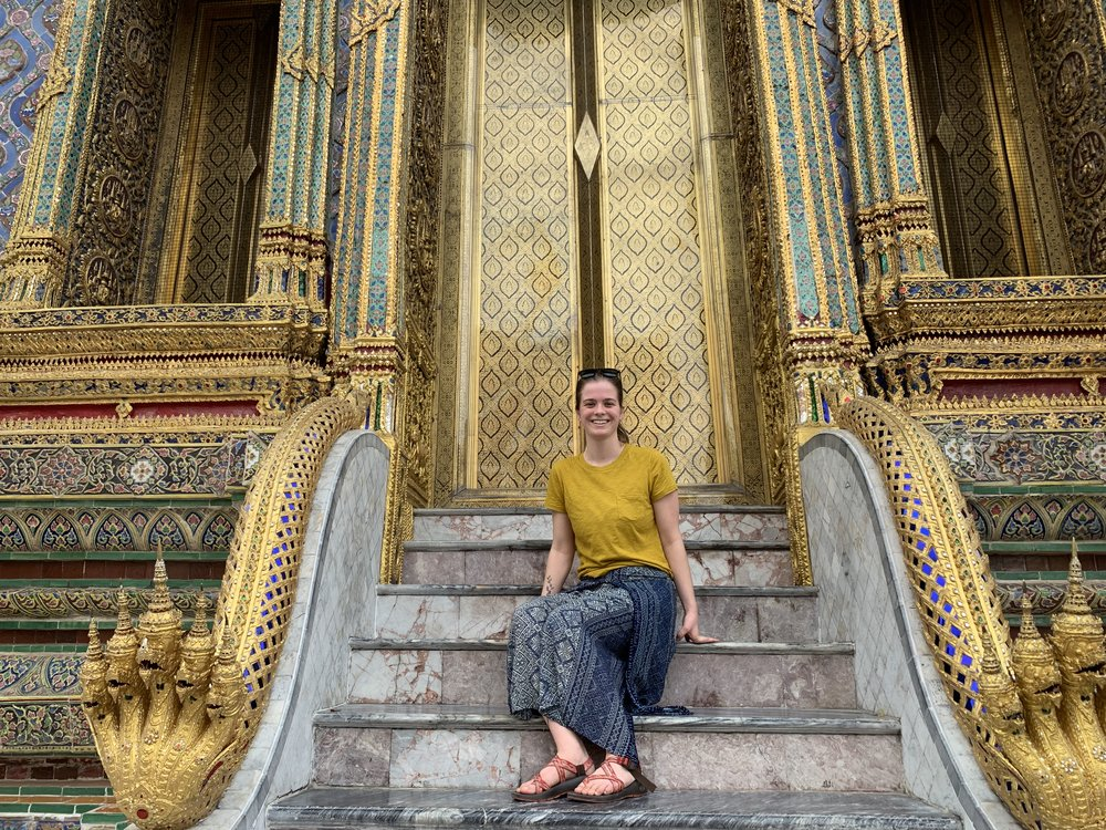 Hannah in Thailand. Check out her blog post on  How to Travel Bangkok on a Budget .
