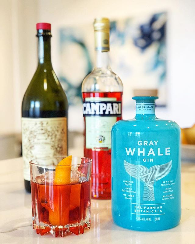 Happy #negroniweek from its newest member @graywhalegin. We like to keep it classic with the simple 1:1:1 recipe.  1 oz @graywhalegin 1 oz @campariofficial 1 oz anticaformula_official  Combine ingredients in a mixing glass with ice, stir, strain in a rocks glass with a large cube, and garnish with an orange peel.  By @ryanhappygilmore #negroni #campari #carpanoanticaformula #anticaformula #negroniweek2018 #imbibe #gin #cocktails #graywhalegin #cocktail #bar #booze #drink #mixology #cheers #bartender #party #happyhour #celebrate #homebartender #organic #thirsty