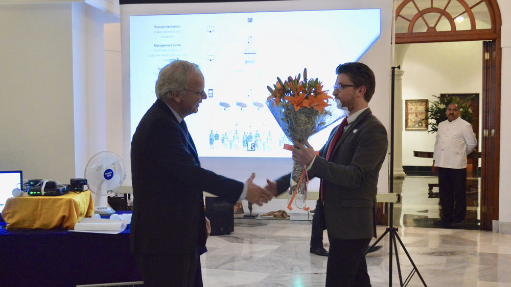 Many thanks to Dutch Ambassador Alphonso Stoelinga for hosting the event and being an excelent moderator during the discussion following the product launch.