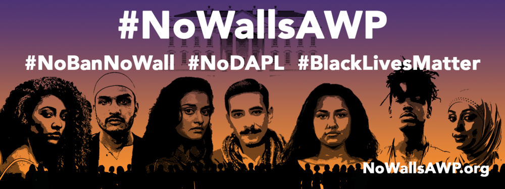 #NoWallsAWP protest event image