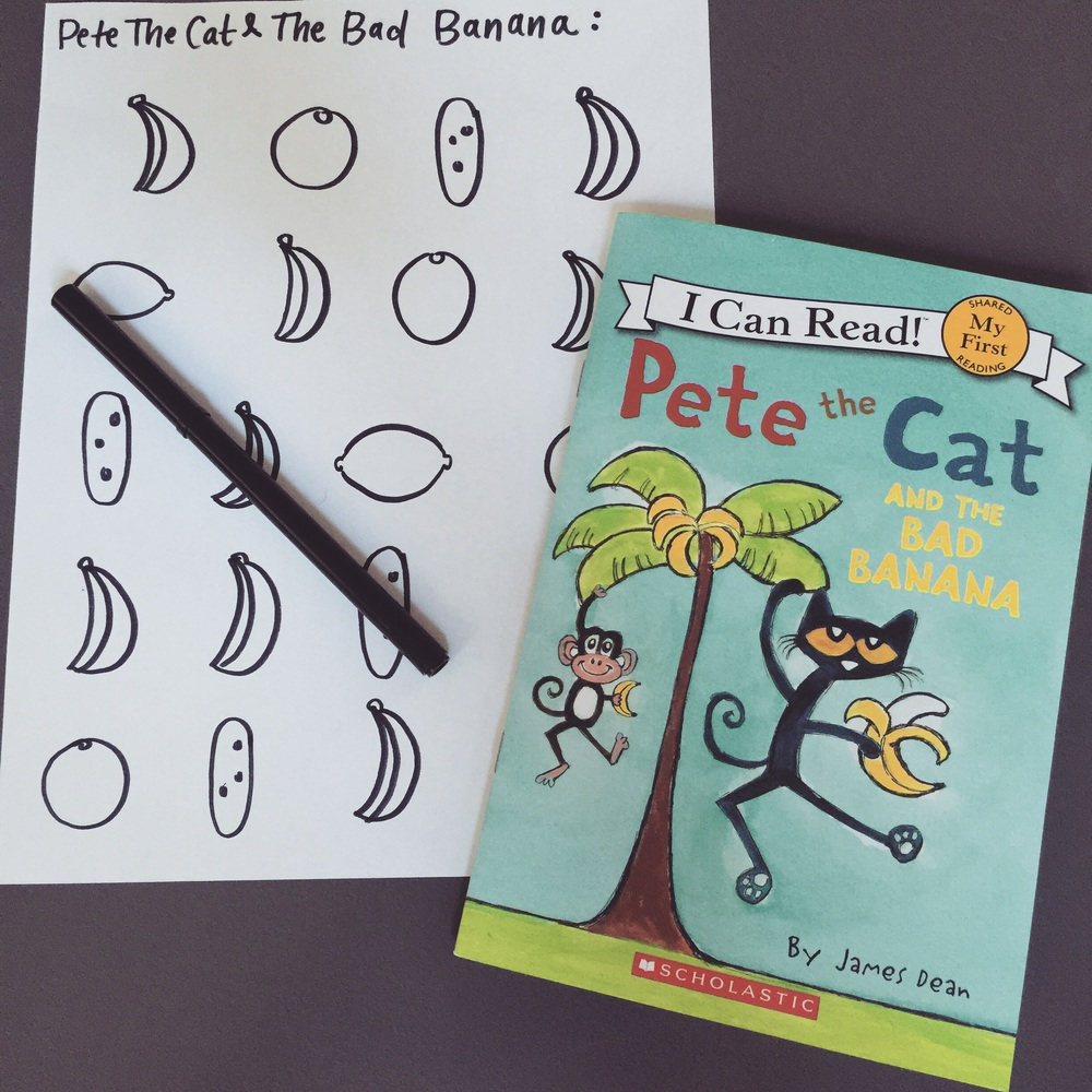 Pete the Cat and the Bad Banana book and activities.