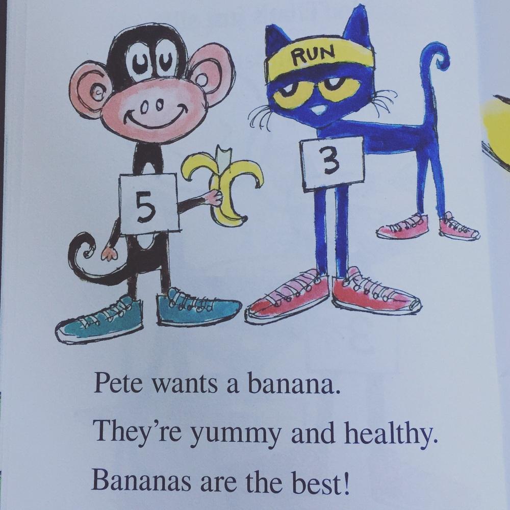 Pete loves bananas!