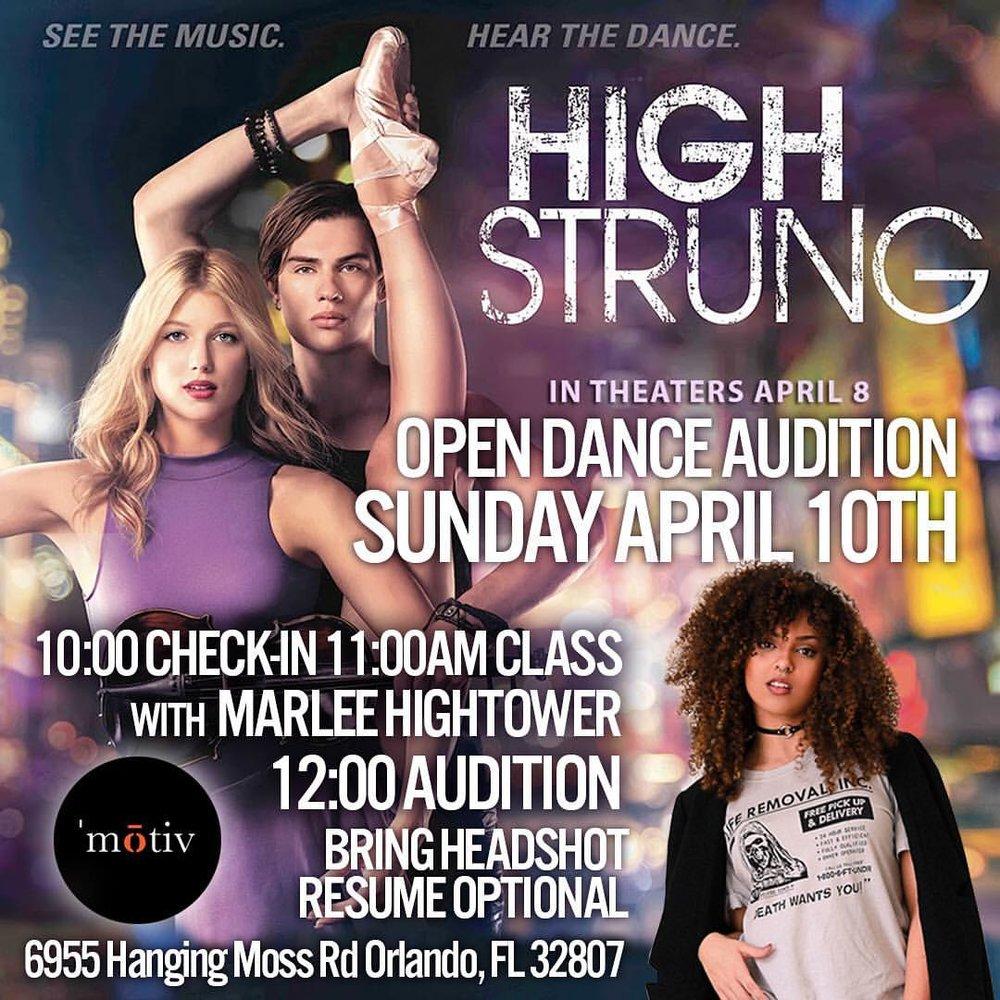 """High Strung"" Auditions"