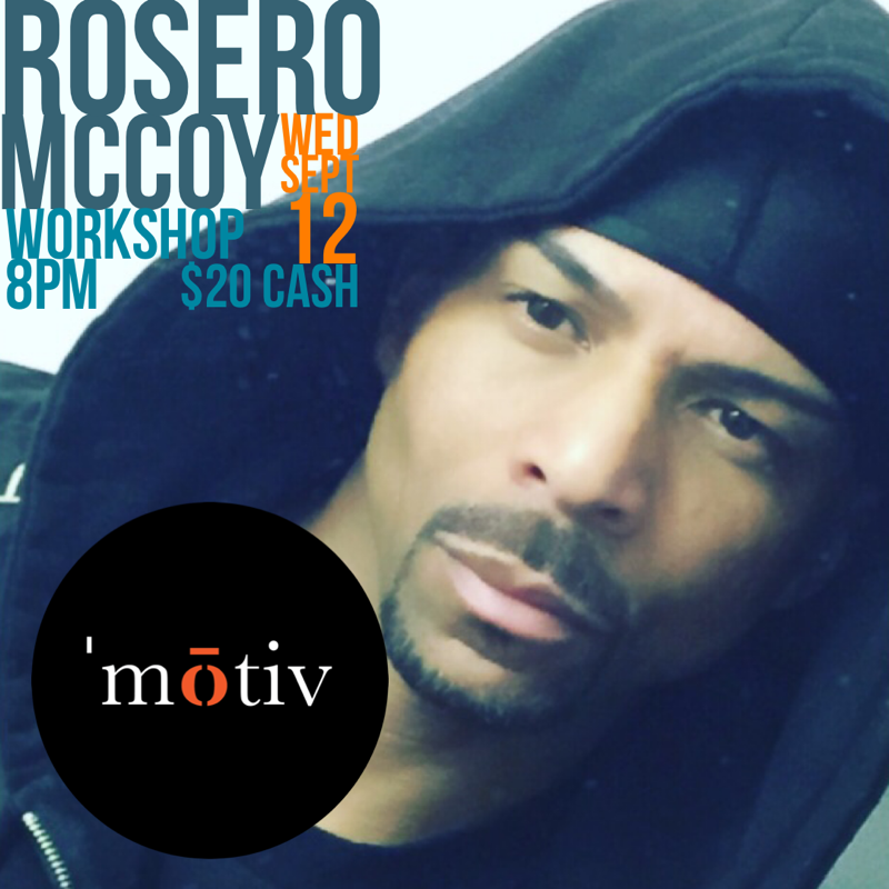 Joining us this Wednesday, September 12th at 8PM is this talented dancer and choreographer.  In 1990, Rosero McCoy moved to Los Angeles, honed his technical training in choreography and got his start in the entertainment industry, dancing and choreographing for Usher, Celine Dion, Snoop Dogg and N'Sync. He has since gone on to choreograph projects for stars like Beyonce, Fergie, Tom Cruise, Queen Latifah, Nicole Scherzinger, Ellen DeGeneres, Outkast, Toni Braxton, Tyrese Gibson and Gloria Estefan to name a few.