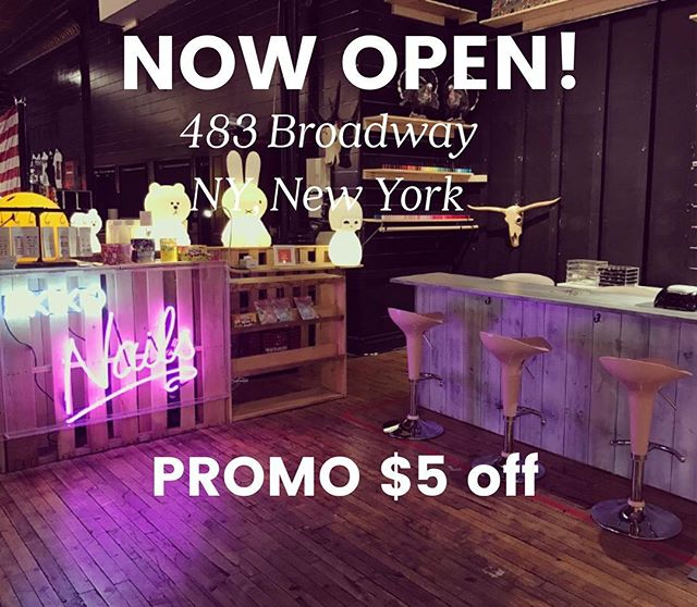 We're now OPEN at The Market NYC! ✨✨Located at 483 Broadway NY, New York!Call us on (646) 972-6576 for appointments! Promo code for $5 off is valid until June 30, 2017. (Must hashtag #akikonails_broadway for promo to be valid)