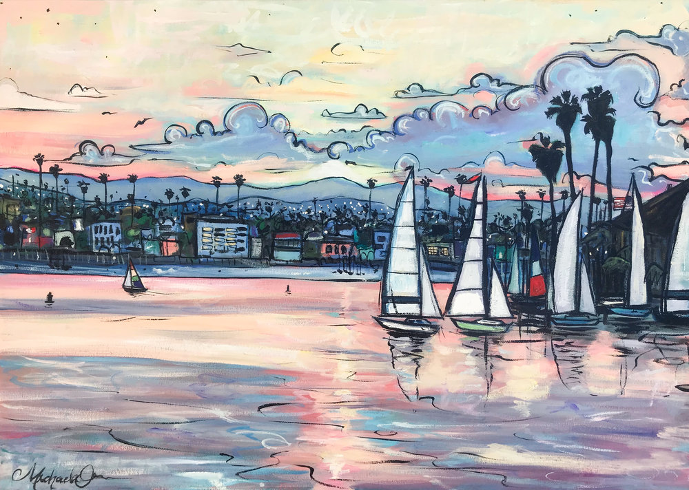 "SOLD ""Mission Bay Sunrise"""