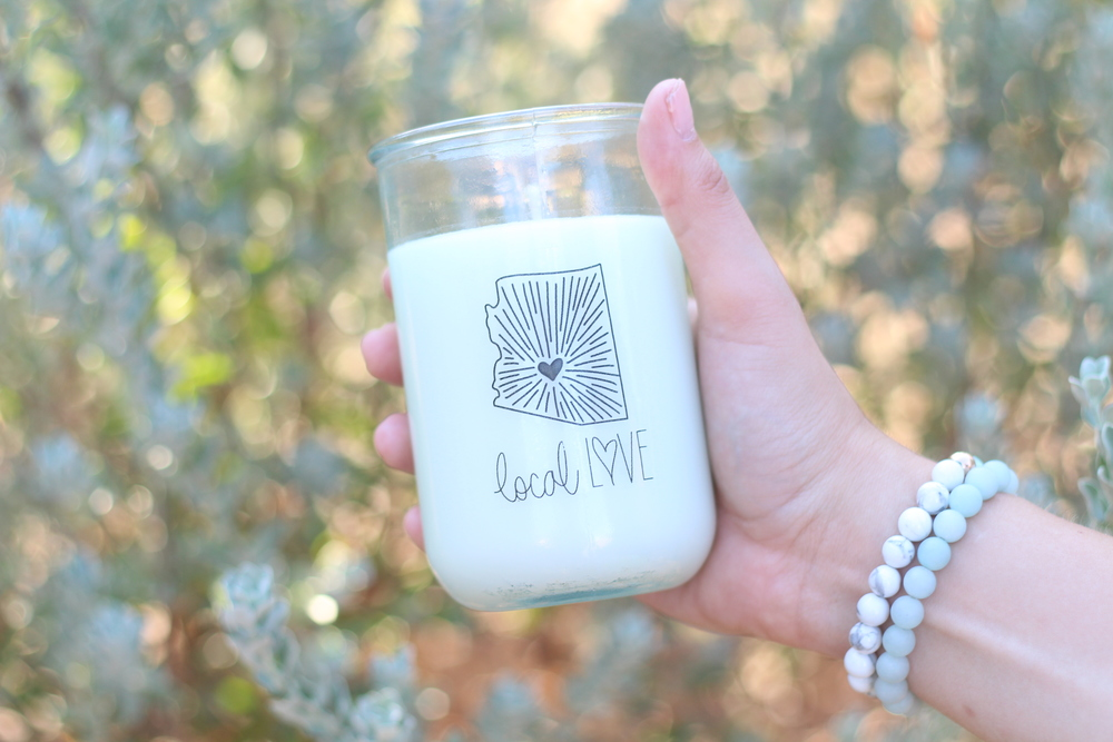 Local Love Sunny Brooke Co + Be You Jewelry Collab Candle