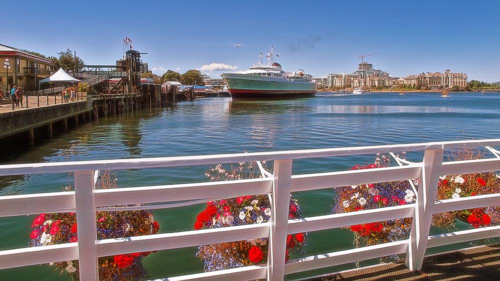 Arriving in Victoria's Inner Harbour