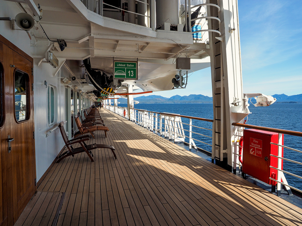 1500 people on board and at times you can be the only one around.