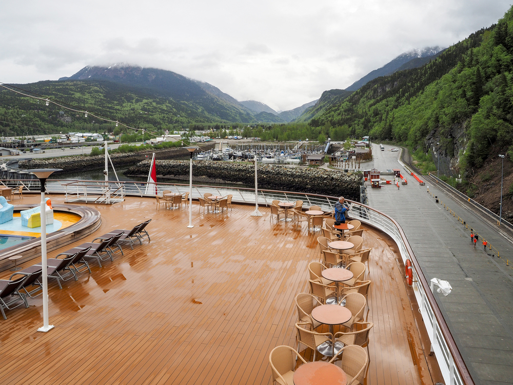 This is Juneau and it was the one day on our seven day cruise that we had rain.