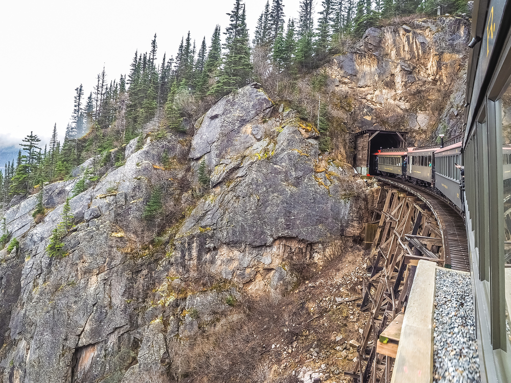 Getting higher on The White Pass Railway.