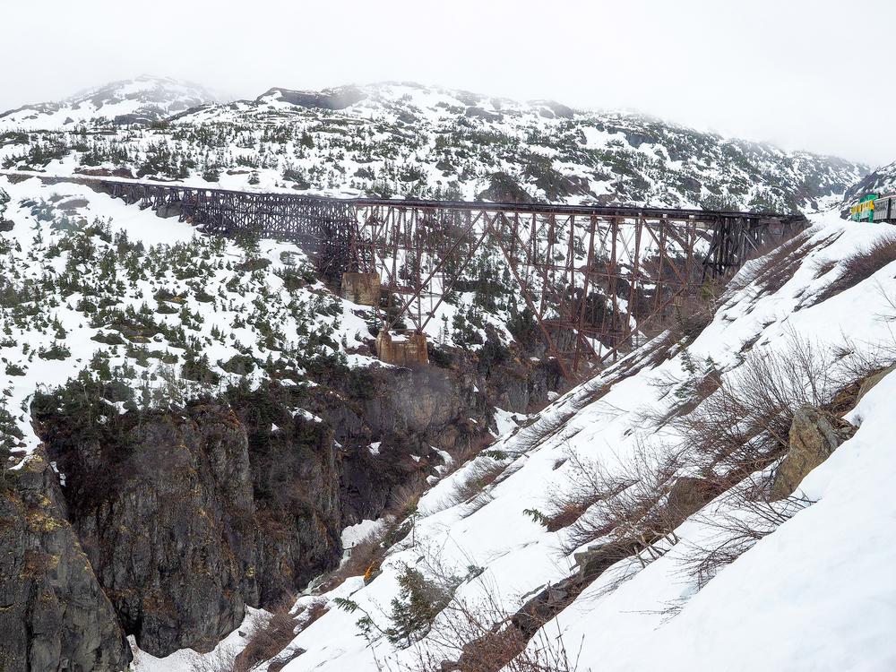 Higher still on The White Pass Railway.