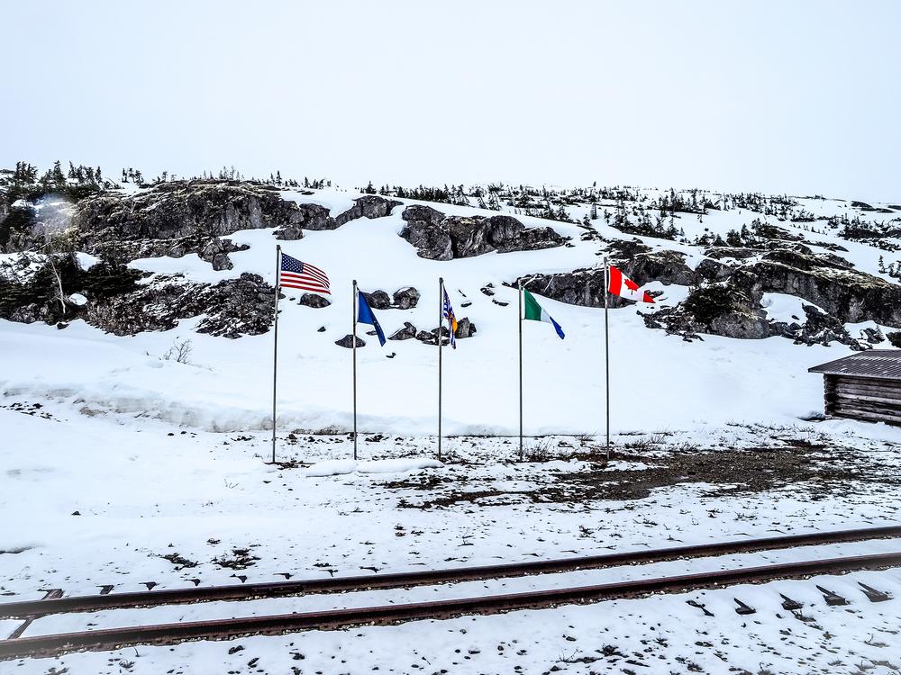 At the America/Canada border.