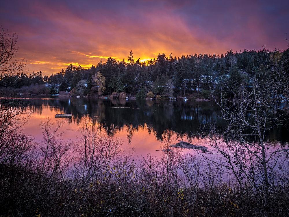 Florence Lake sunset