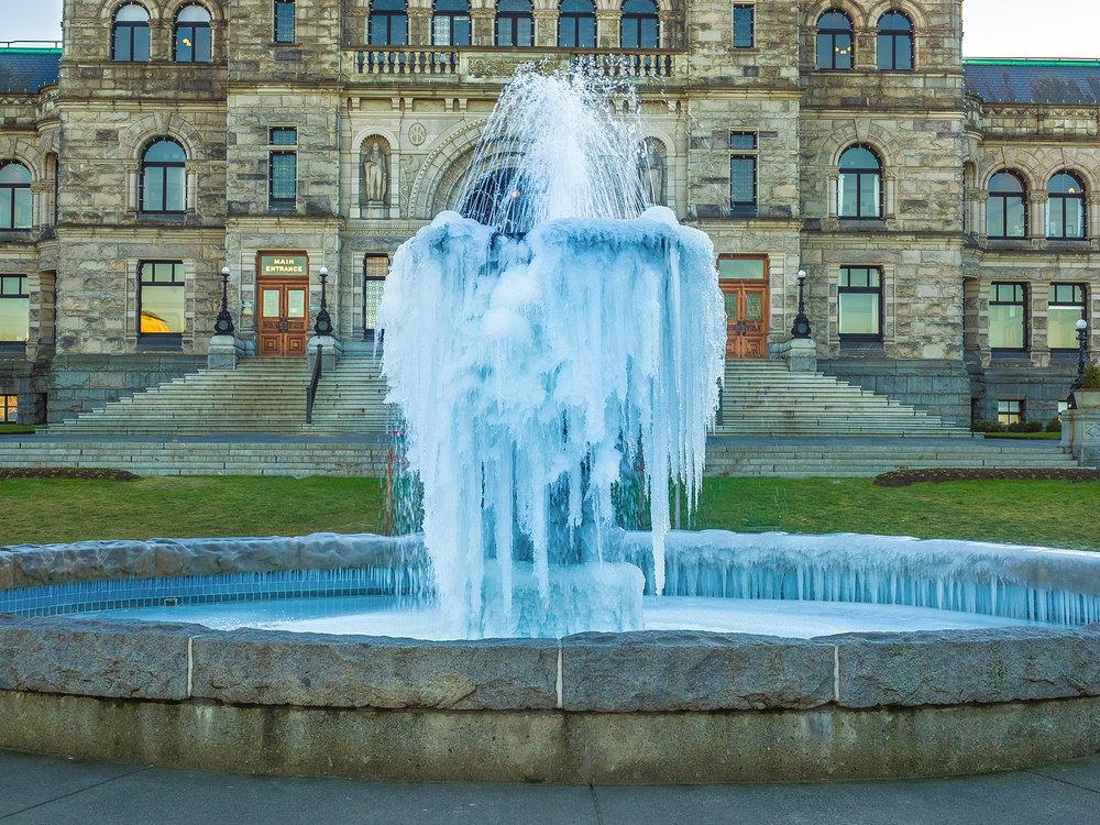 Frozen Victoria BC