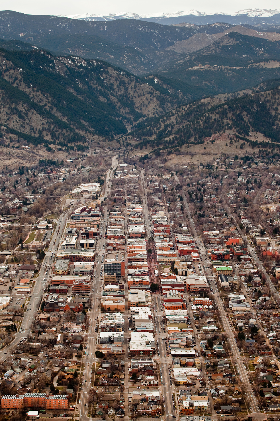 Boulder, CO, from the sky