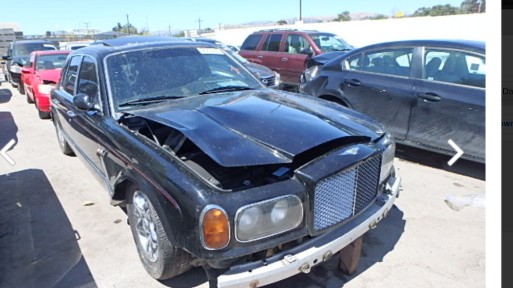 Parting out Bentley Arnage