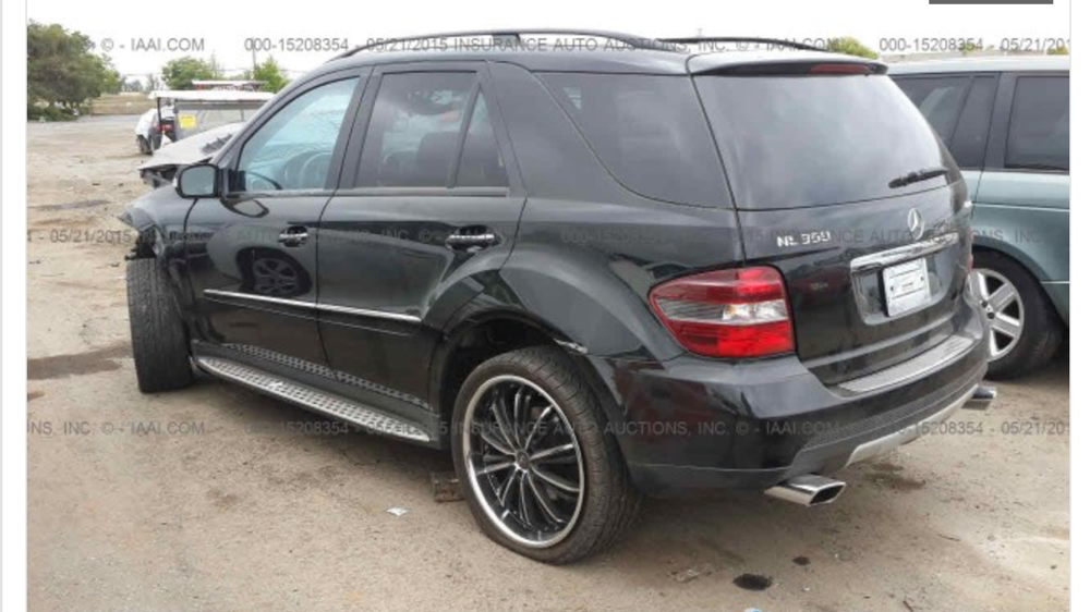 Parting out Mercedes ML350