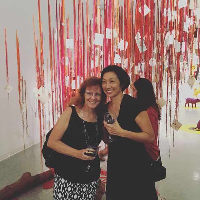 Friends with #themendingtree #installation #viridisartcollective #exhibition @palmbeachculture #yay