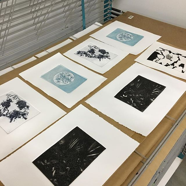 #WIP #collaborating #inthestudio #ViridisArtCollective #printmaking #artcollective #editions #comingsoon #collecteurs #artists #intaglio #carborundum