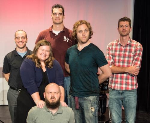(left column) Josh, Abby, Grezit, (upper row) Daniel, Rufus, Alexis