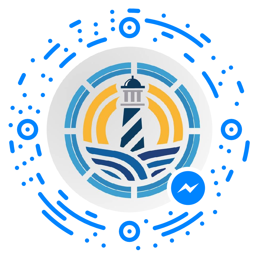 Scan the code inside of Facebook messenger to chat with us.