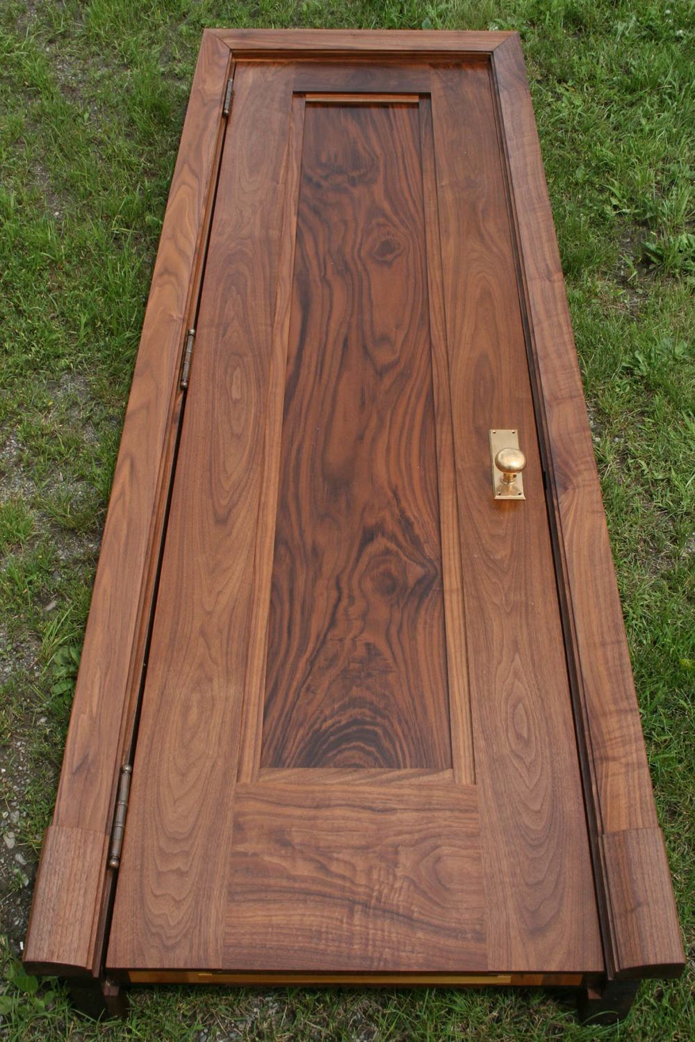 Whole walnut door built by Allan Shope