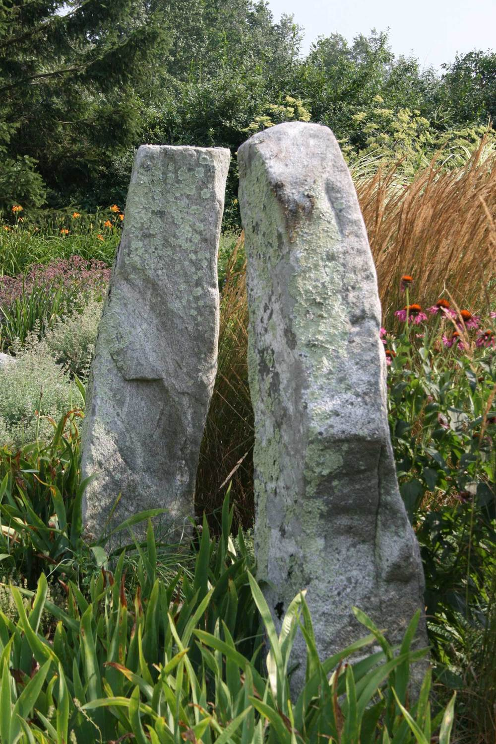 Granite monoliths as stone pillars