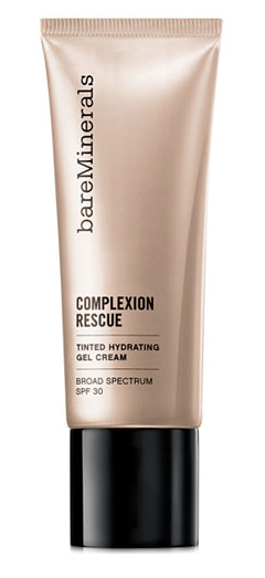 BAREMINERALS COMPLEXION RESCUE GEL CREAM - This is like a tinted moisturizer on steroids. If you're looking for the fastest way to do your makeup in the mornings, this is the way to go.