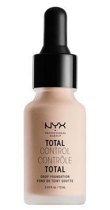 NYX TOTAL CONTROL DROP FOUNDATION - This is the most versatile foundation, as it can be worn and layered alone beautifully, but it can also be added to other foundations to change their shades.