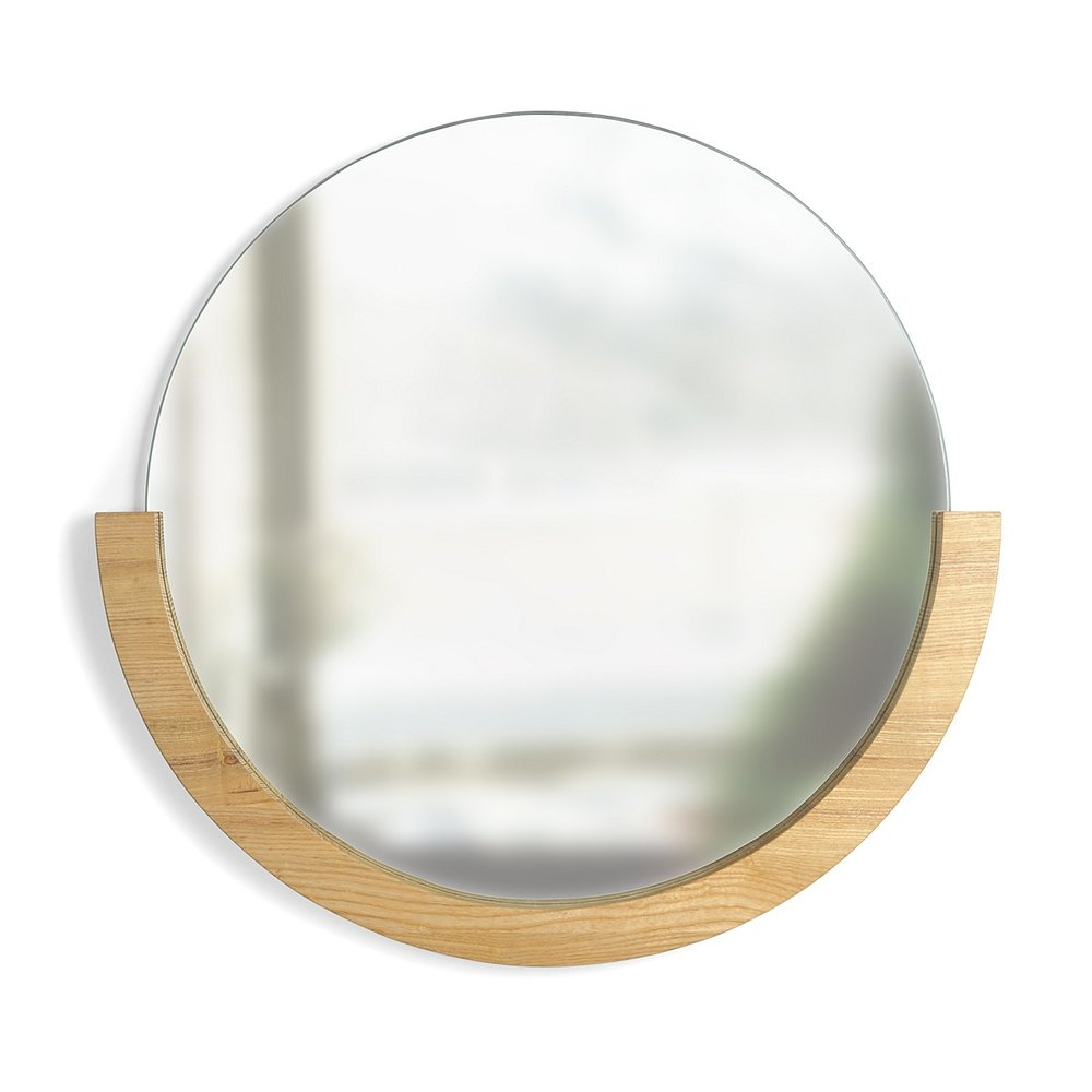 "Umbra Mira Mirror, 22"" $80.00 Natural"