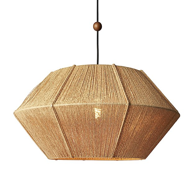 love one another natural pendant light CB2 Exclusive $249.00