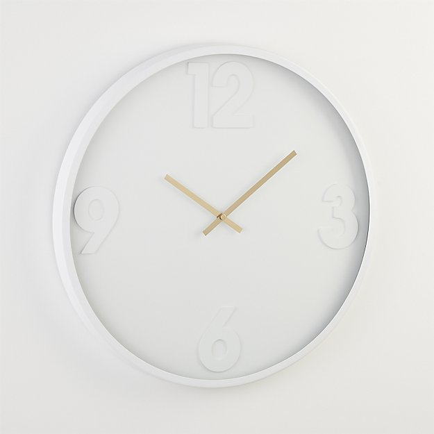 mello wall clock CB2 Exclusive $79.95