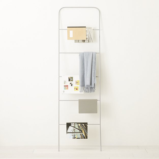 ladder grey magazine rack CB2 Exclusive SALE $99.99